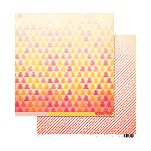 Cosmo Cricket - Summer Love Collection - 12 x 12 Double Sided Paper - Sno Cone
