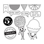 Cosmo Cricket - Summer Love Collection - Cling Mounted Rubber Stamps