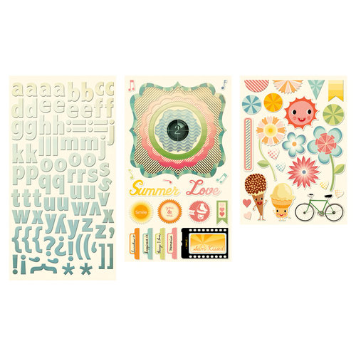 Cosmo Cricket - Summer Love Collection - Stickers