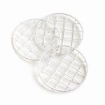 Cosmo Cricket - Show Toppers - Mason Jar Grid Lids - White - 3 Pack
