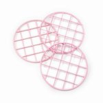 Cosmo Cricket - Show Toppers - Mason Jar Grid Lids - Pink - 3 Pack