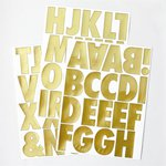 Advantus - Cosmo Cricket - Vinyl Stickers - Metallic Gold