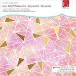 Advantus - Cosmo Cricket - Just Add Watercolor Collection -12 x 12 Art Deck - Live Bright