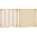 Advantus - The Girls Paperie - Paper Girl Collection - 12 x 12 Double Sided Paper - Newsprint Stripe