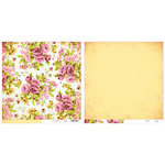 Advantus - The Girls Paperie - Paper Girl Collection - 12 x 12 Double Sided Paper - Cabbage Rose