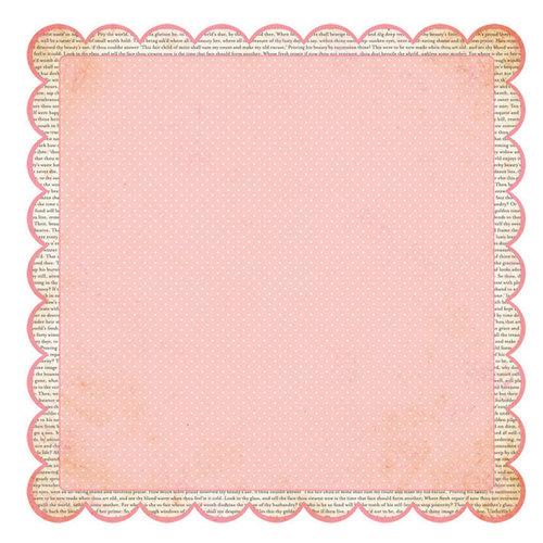 Advantus - The Girls Paperie - Paper Girl Collection - 12 x 12 Die Cut Paper - Newsprint Scallop