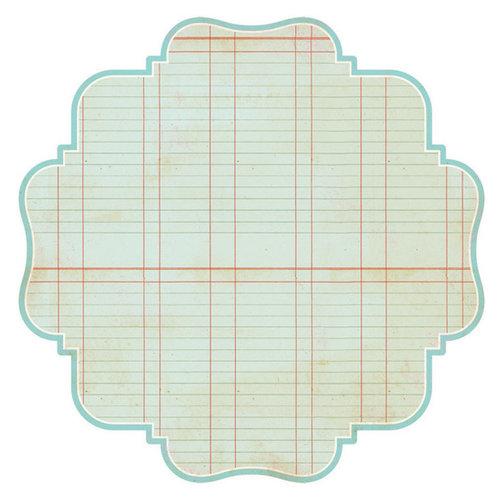 Advantus - The Girls Paperie - Paper Girl Collection - 12 x 12 Die Cut Paper - Blue Ledger