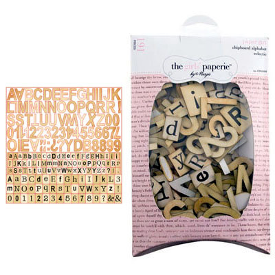 The Girls Paperie - Paper Girl Collection - Chipboard Alphabet - Eclectic