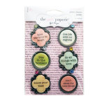 Advantus - The Girls Paperie - Paper Girl Collection - Metal Glitter Charms - Quotes, CLEARANCE