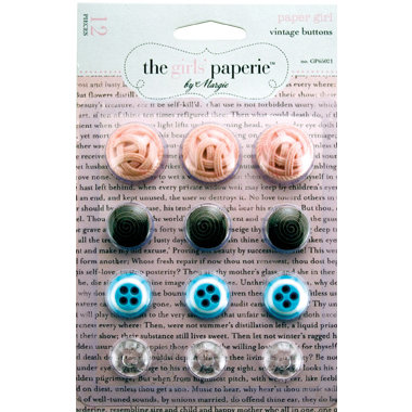 Advantus - The Girls Paperie - Paper Girl Collecion - Vintage Buttons, CLEARANCE