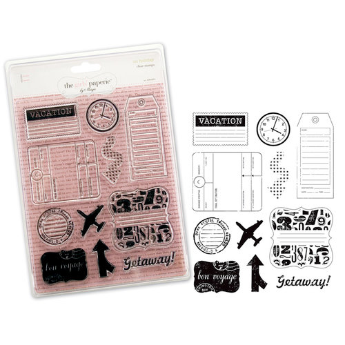 Advantus - The Girls Paperie - On Holiday Collection - Clear Acrylic Stamps - On Holiday
