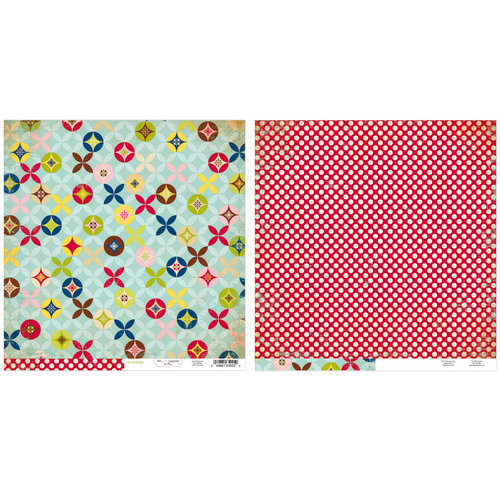 Advantus - The Girls Paperie - On Holiday Collection - 12 x 12 Double Sided Paper - Travel Skirt