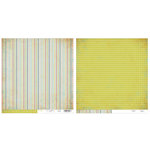 Advantus - The Girls Paperie - On Holiday Collection - 12 x 12 Double Sided Paper - Travel Ticking