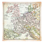 Advantus - The Girls Paperie - On Holiday Collection - 12 x 12 Die Cut Paper - Vintage Map
