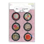Advantus - The Girls Paperie - On Holiday Collection - Metal Epoxy Charms - Travel, CLEARANCE