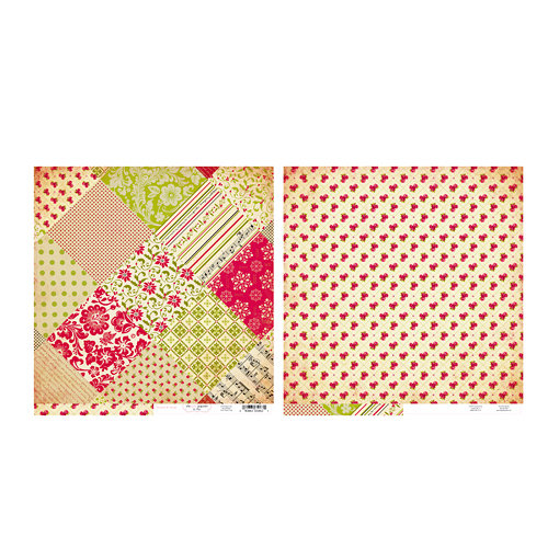 The Girls Paperie - Tinsel and Twig Collection - Christmas - 12 x 12 Double Sided Paper - Tinsel and Twig