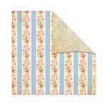 The Girls Paperie - Kitch Collection - 12 x 12 Double Sided Paper - Gingham Stripe, BRAND NEW