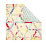 The Girls Paperie - Kitch Collection - 12 x 12 Double Sided Paper - Granny's Quilt, BRAND NEW