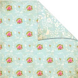 The Girls Paperie - Vintage Whimsy Collection - 12 x 12 Double Sided Paper - Floribunda, BRAND NEW