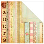 The Girls Paperie - Vintage Whimsy Collection - 12 x 12 Double Sided Paper - Bits and Pieces, BRAND NEW