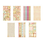 The Girls Paperie - Vintage Whimsy Collection - Sticker Pad - Market, BRAND NEW