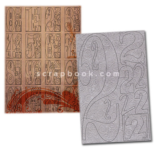Advantus - Cropper Hopper - Tim Holtz - Grungeboard - Digits and Punctuation - Swirls
