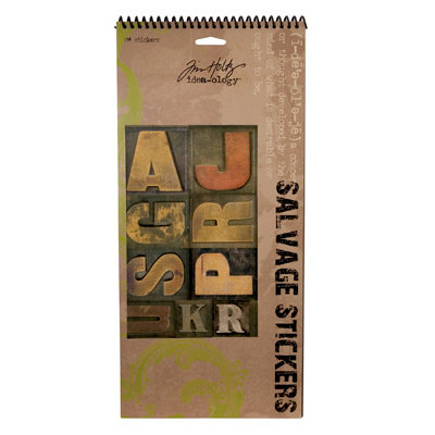 Advantus - Tim Holtz - Idea-ology - Salvage Stickers - 7 sheets
