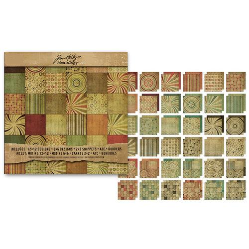 Advantus - Tim Holtz - Idea-ology Collection - 12 x 12 Paper Stack - Retro Grunge