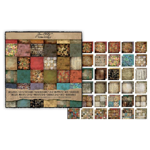 Advantus Tim Holtz Idea-ology Collection 12 x 12 Paper Stash Lost and Found
