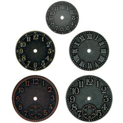 Advantus - Tim Holtz - Idea-ology Collection - Timepieces - Metal Clock Faces