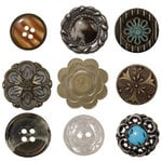 Advantus - Tim Holtz - Idea-ology Collection - Accoutrements - Buttons