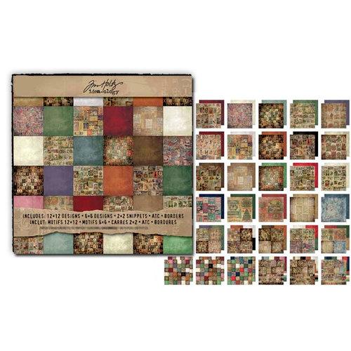 Advantus - Tim Holtz - Idea-ology Collection - 12 x 12 Paper Stash - Seasonal