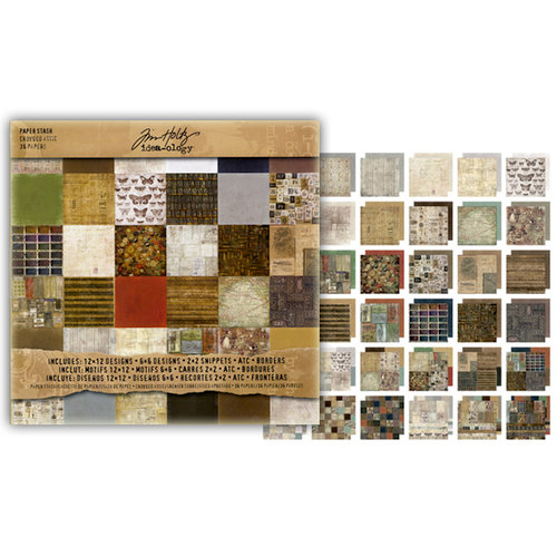 Advantus - Tim Holtz - Idea-ology Collection - 12 x 12 Paper Stash - Crowded Attic