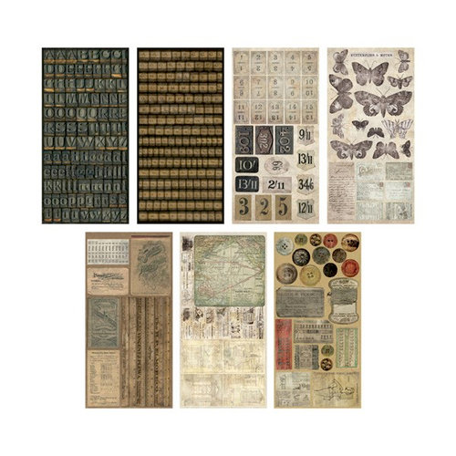 Advantus - Tim Holtz - Idea-ology Collection - Salvage Stickers - Crowded Attic