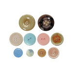 Advantus - Tim Holtz - Idea-ology Collection - Accoutrements - Buttons - Shabby