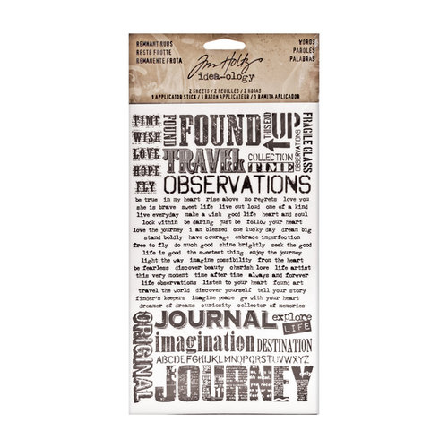 Tim Holtz - Idea-ology Collection - Remnant Rubs - Words
