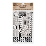 Tim Holtz - Idea-ology Collection - Remnant Rubs - Numbers