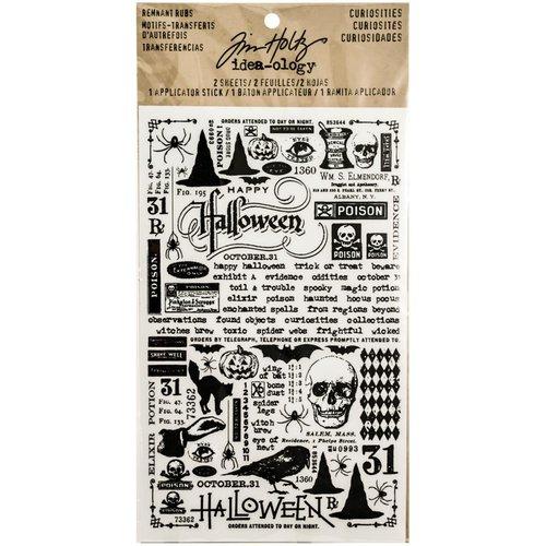 Advantus - Tim Holtz - Idea-ology Collection - Halloween - Remnant Rubs - Curiosities