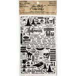 Advantus - Tim Holtz - Idea-ology Collection - Halloween - Remnant Rubs - Curiosities