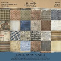 Advantus - Tim Holtz - Idea-ology Collection - 12 x 12 Paper Stash - Dapper