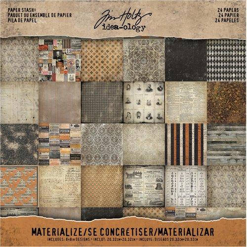 Advantus - Tim Holtz - Idea-ology Collection - Halloween - 8 x 8 Paper Stash - Materialize