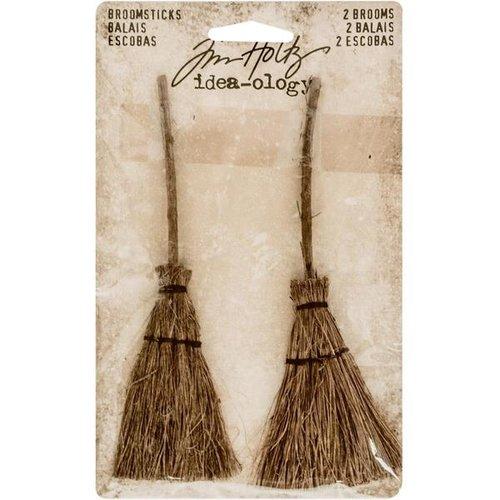 Advantus - Tim Holtz - Idea-ology Collection - Halloween - Broomsticks