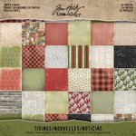 Advantus - Tim Holtz - Idea-ology Collection - Christmas - 8 x 8 Paper Stash - Tidings