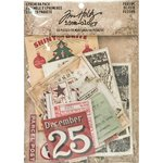 Advantus - Tim Holtz - Idea-ology Collection - Ephemera Pack - Christmastime