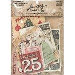 Advantus - Tim Holtz - Idea-ology Collection - Ephemera Pack - Christmastime
