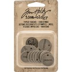 Advantus - Tim Holtz - Idea-ology Collection - Typed Tokens - Christmas