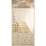 Advantus - Tim Holtz - Idea-ology Collection - Remnant Rubs - Gilded Christmastime