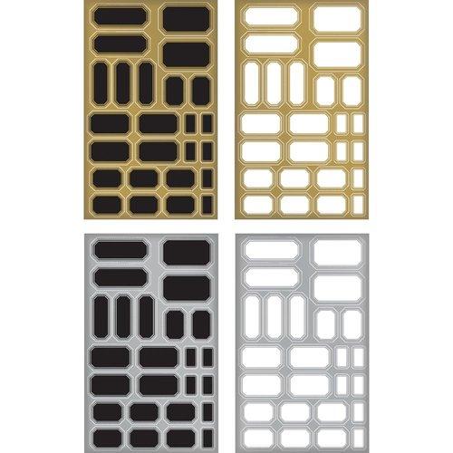 Advantus - Tim Holtz - Idea-ology Collection - Christmas - Metallic Stickers - Labels