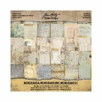 Advantus - Tim Holtz - Idea-ology Collection - 12 x 12 Paper Stash - Memoranda