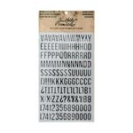 Advantus - Tim Holtz - Idea-ology Collection - Metallic Stickers - Alpha Silver